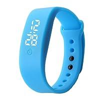 VALUEU Fashion pausa sport uomini e donne studenti mini orologio da polso bambini LED elettronico orologio in silicone blu blue