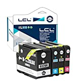 LCL Compatible for HP 932XL 933XL(4-Pack Black Cyan Magenta Yellow)Ink Cartridge for HP Officejet 6100/6600/6700/7110/7610/7612/7510/7512