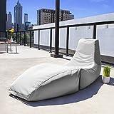 Jaxx Prado Outdoor Bean Bag Chaise Lounge Chair, White