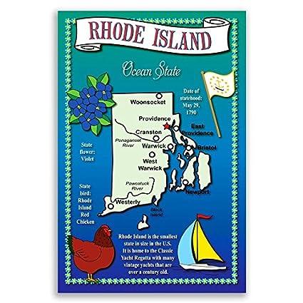 Amazoncom RHODE ISLAND STATE MAP postcard set of 20 identical