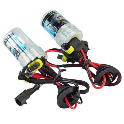(HOTSYSTEM 2pcs HID Xenon Headlight Car Lamp Bulbs Light H1- 8000K)