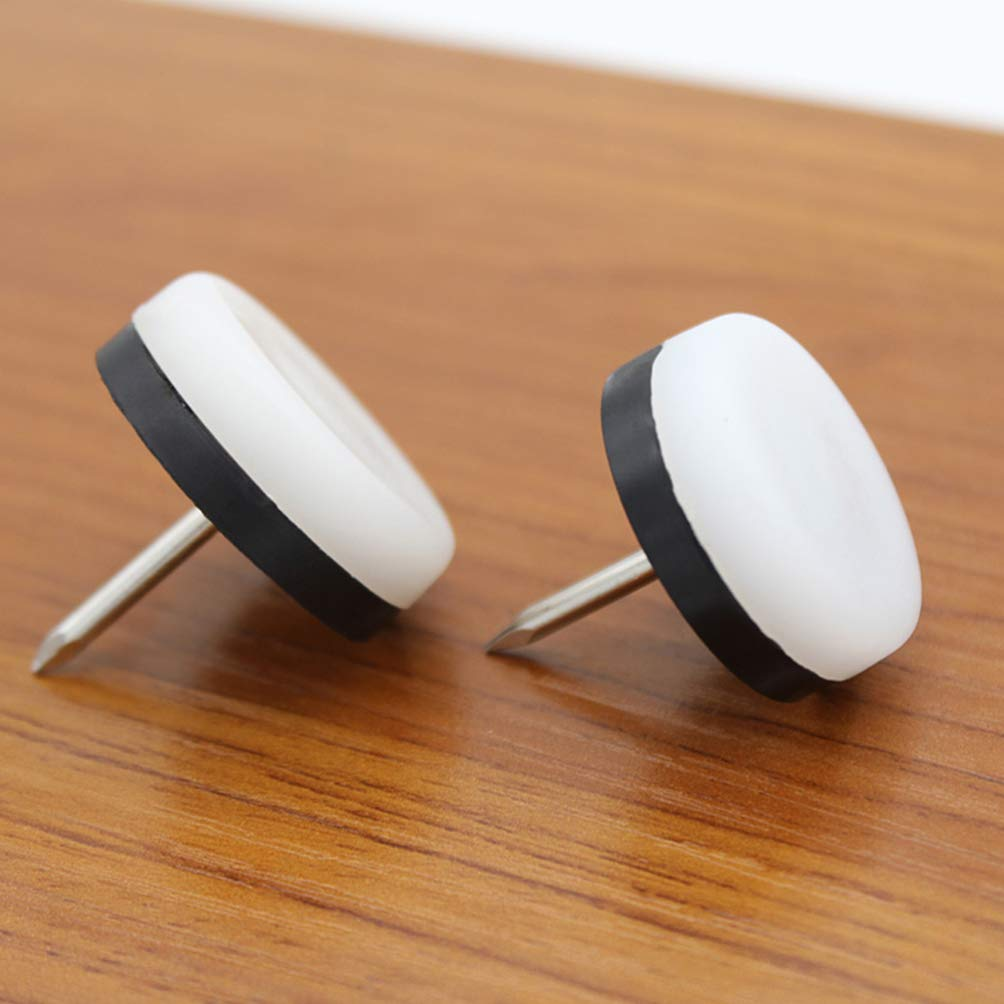18 mm DOITOOL Deslizadores y deslizadores para muebles de 50 piezas clavados deslizadores de patas de silla m/ágica almohadillas para muebles para protector de piso de madera blanco