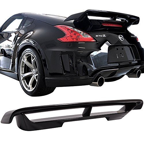 (Pre-painted Trunk Spoiler Fits 2009-2019 NISSAN 370Z | Painted #G41 Black Metallic ABS Car Exterior Trunk Rear Wing Tail Roof Top Lid Other Color Available by IKON MOTORSPORTS | 2010 2011 2012)