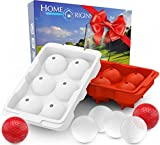 19th Hole Ice Balls Mold ~ Maker of 12 Golf Ball Ice Balls ~ Each Ice Ball Dimpled & Sized Like Golf Balls ~ Great Funny Golf Gifts ~ Exclusively from Home Origins