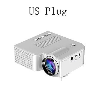 WHLDCD Proyector Mini proyector LED portátil 400 lúmenes 320 x 240 ...