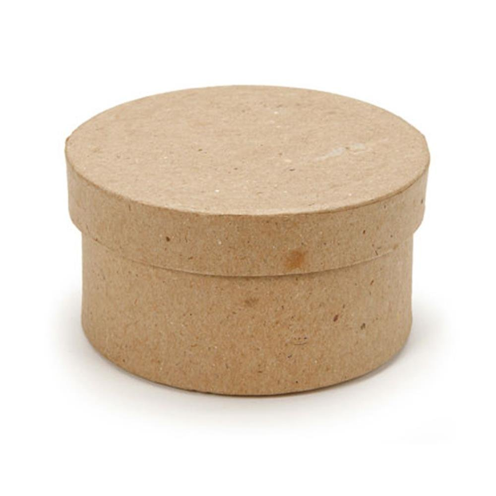 Darice 2807-20 Paper Mache Mini Box - Round - 3 in