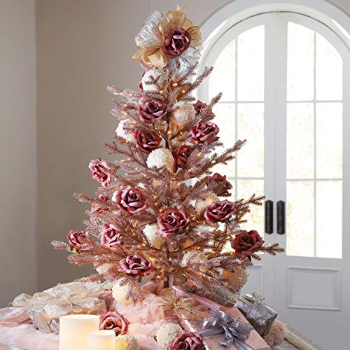 BrylaneHome 4' Rose Gold Christmas Tree - Rose Gold
