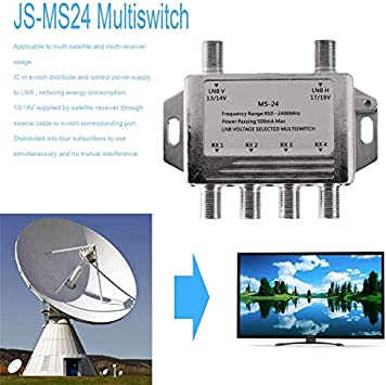 Mini 2x4 JS-MS24 Satellite Signal Multiswitch LNB Voltage ...