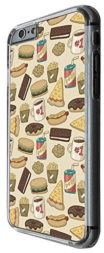 1529 - Cool Fun Trendy cute kwaii collage burger pizza pop cola junk food bourbon cookies Design iphone 5C Coque Fashion Trend Case Coque Protection Cover plastique et métal - Clear