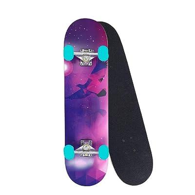 OFFA Skateboards for Beginners, Skateboard Standard Skateboards for Kids Boys Girls Teens Adults Beginners Starter Complete Skate Board,Skate Boards 31''x 8'' 7 Layer Maple Cruiser Deck (Color : B): Home & Kitchen