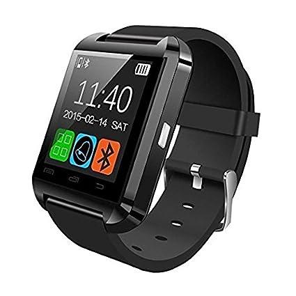 Oximus U8 Smart Notification Bluetooth Smartwatch (Black)  Amazon.in ... 63ccbd5322c85