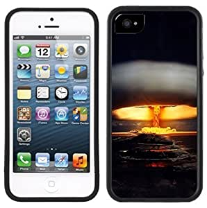 LJF phone case Nuclear Bomb Handmade iPhone 5C Black Case