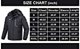 QPNGRP Mens Waterproof Ski Snowboard Jacket