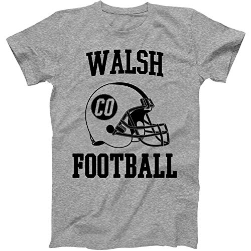 Vintage Football City Walsh Shirt for State Colorado with CO on Retro Helmet Style Grey Size XXX-Large (Classic T-shirt Walsh)