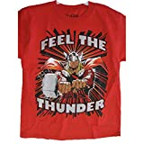 Marvel Little Boys Red Mighty Thor Superhero Print T-Shirt 7