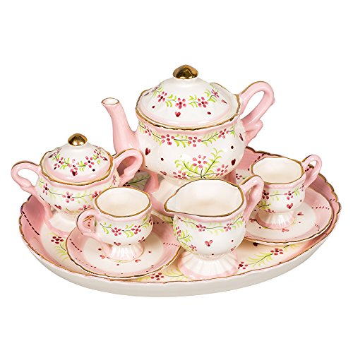 Porcelain Swirl (Hearts and Swirls Design White Porcelain Children's Tea Party Set)
