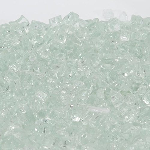 1/2'' Icy Mint / Clear Fireglass 10 Pound Bag