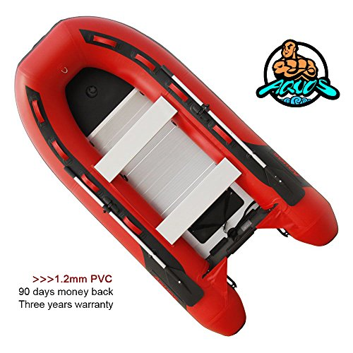 Heavy-Duty 2018 NEW Thermobonding 1.2mm Thickness PVC 9.8' Inflatable Fishing Boat Dinghy Tender,Aluminum Floor Bench Seat,Deep V Bottom,Made By German PVC,Max 10 HP,Transport Canada approved