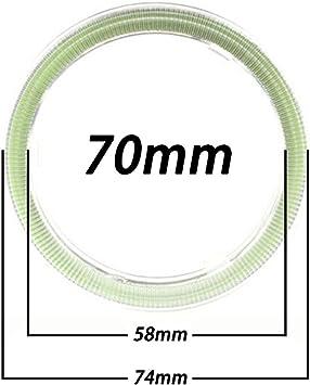 diametro 60 mm 1 coppia Taben Anello LED COB 45SMD luminoso luce bianca 6500/K Lampada per fari Angel Eyes tensione DC12/V