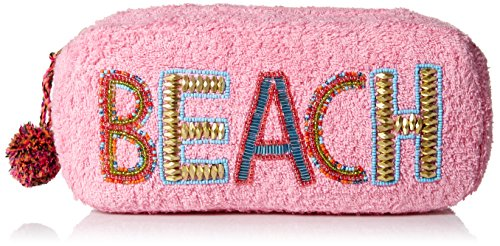 'ale by alessandra Women's Beach Baby Plush Cotton Terry Cloth Clutch/Bikini Bag, pink, One ()