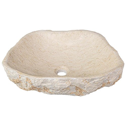 MR Direct 870 Galaga Beige Marble Vessel Sink