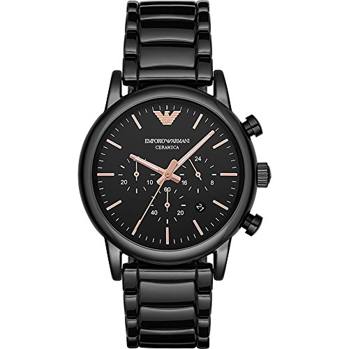 Emporio Armani Men's AR1509 Dress Black Watch (Armani Watch Stainless Steel compare prices)