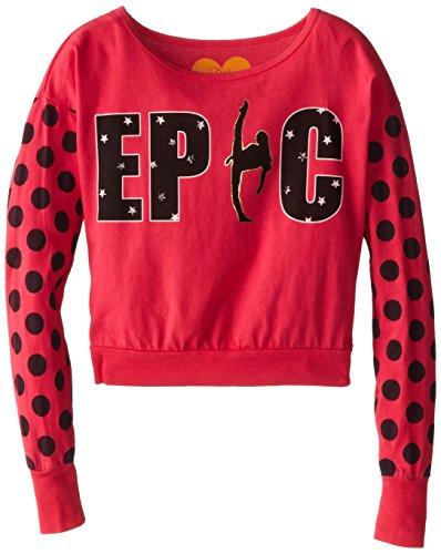 Dirtee Hollywood Big Girls' Epic Dance Pullover Sweatshirt, Pink, Small