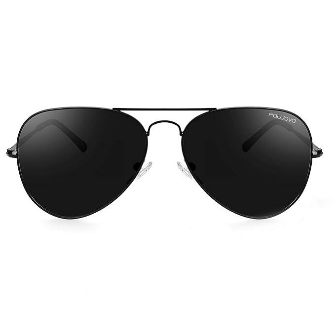 fawova-Gafas de Sol Hombre Polarizadas Verde, Gafas Sol Polarizadas Hombre Negro, UV400, Cat.3, 58mm,CE