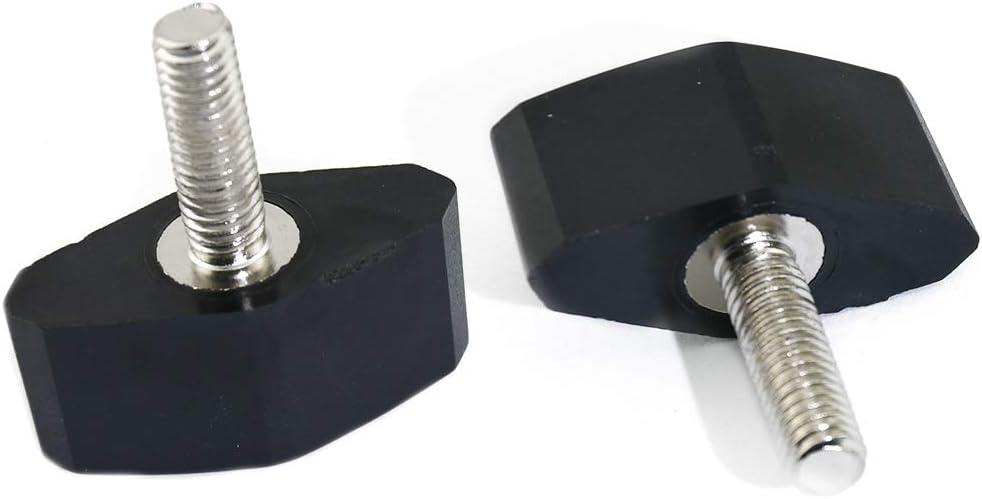 Boeray 10pcs M6x12mm Threaded Thumb Screw Grip Knobs Thumb Screw Black Nylon Elongated Knob for Machinery Latche Marine