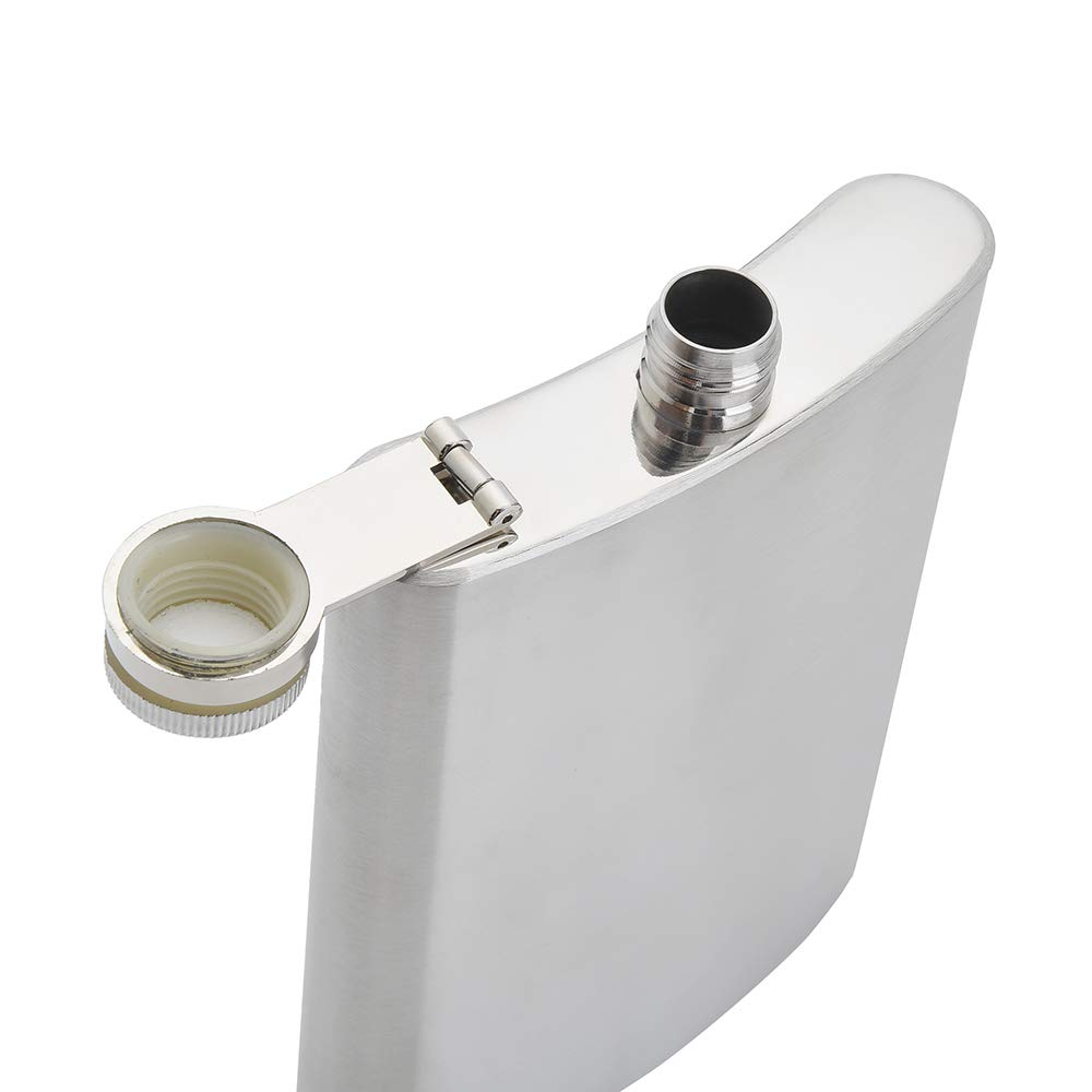 FF Elaine Stainless Steel Flasks,Easy Pour Funnel is Included, 8 oz, Set of 8 by FF Elaine (Image #2)