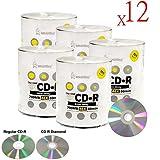 Smartbuy 6000-disc 700mb/80min 48x CD-R Shiny Silver Top Diamond (True Silver) Bottom Blank Recordable Disc
