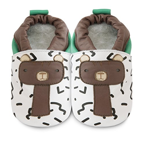 Shooshoos - Chaussons souples cuir Barry the bear