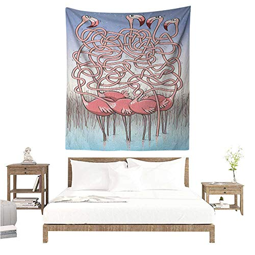 Fun Tapestry for Living Room Five Cute Flamingos