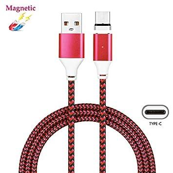 Magnetischer USB Typ C Kabel, Superior ZRL® Nylon Litzen High Speed ...