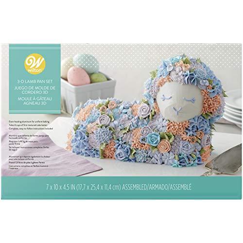 Wilton 2105-2010 3D Easter Lamb Cake Pan Set, - Cake Lamb