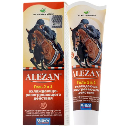 Cooling and Warming Body and Joints Gel with Essential Oils for neuritis, sciatica, bruises, sprains 100 ml (Alezan) by Alezan Gel