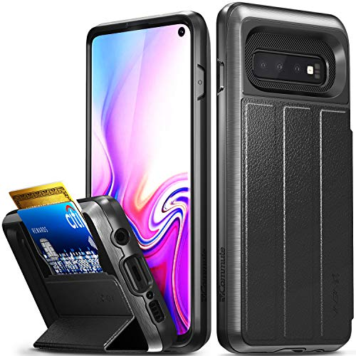 Vena Samsung Galaxy S10 Wallet Case, [vCommute][Military Grade Drop Protection] Flip Leather Cover Card Slot Holder with Kickstand Compatible with Samsung Galaxy S10 (6.1