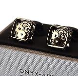 Onyx Art Cufflinks - Steampunk Gears - Gunmetal