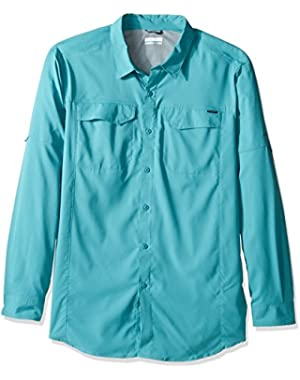 Men's Big-Tall Silver Ridge Lite Long Sleeve Shirt, Teal, Large