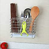 $24.99Kitchen Wall Mounted Flatware Caddy Cutlery Holder with Knife Block 4 Utility hooks