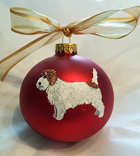 Petit Basset Griffon Vendéen PBGV Dog Hand Painted Christmas Ornament - Can Be Personalized with Name