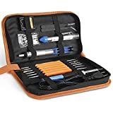 INTEY 13pcs Full Set Electric Soldering Iron Kit with PU Carry Bag 60W 110V