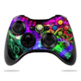 Protective Vinyl Skin Decal Cover for Microsoft Xbox 360 Controller wrap sticker skins Neon Splatter For Sale