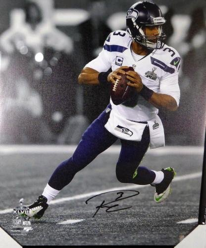 Russell Wilson Autographed Signed Framed 24x30 Canvas Photo Seahawks Rw 125708 Autographed NFL Art