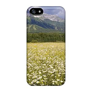 New Arrival Field Of Daisies In Elk Valley British Columbia For Iphone 5/5s Case Cover