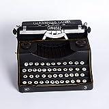 kaige Table Decoration Vintage Old Fashioned Typewriter Model Black Home Decor Bar Cafe Ornaments 332518cm