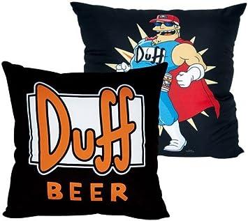 Simpsons Duff Beer Plüsch Kissen Kuschelkissen 20 cm Nackenkissen Saugnapf