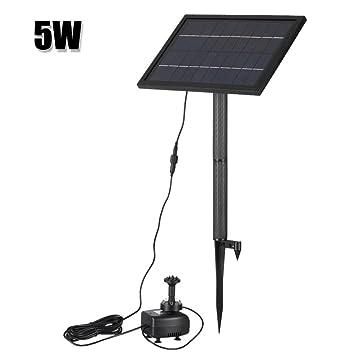 Dugoo Solar-Brunnenpumpe 10V 5W Mit LED-Beleuchtung Für Vogel Bad ...