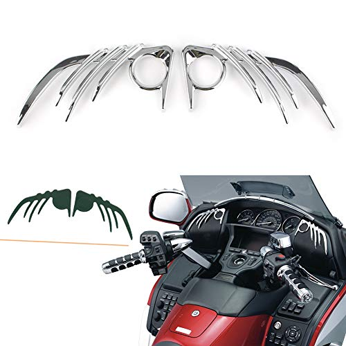 Alina-Shops - Goldwing GL1800 & F6B Motorcycle Chrome Front Speaker Outer Trim Decoration For Honda 2006 2007 2008 2009 2010 2011 2012- ()