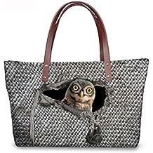 Women Cute Tote Bag For Work Kawaii Animal Print Beach Travel Large Tote